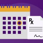 Illustration of calendar and prescription